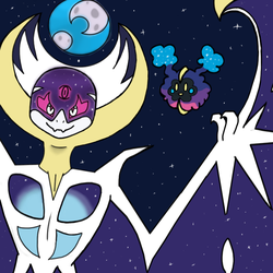 Lunala - Pokemon Moon by MoondustOftheMoon