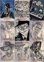 INDIANA JONES Sketch Cards 5 by J-Scott-Campbell