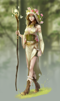 Forest mage by meago