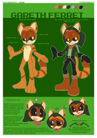 Reference Sheet: Gareth Ferret! by SirBurnout