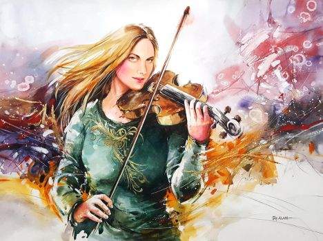 Melody - Watercolour Painting by Abstractmusiq