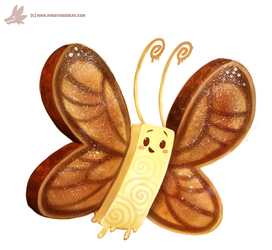 Daily Paint #1137. Butter-Fly by Cryptid-Creations