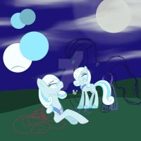 Snowdrop and Luna by Andrea-Fireheart