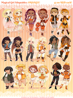 Magical Girl Adopts - ORANGE [SOLD] by Beedalee-Art