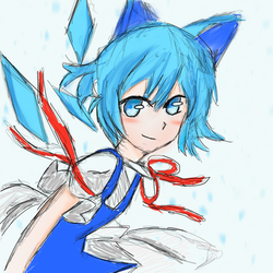 Cirno sketching 9/9/18 by XJes6
