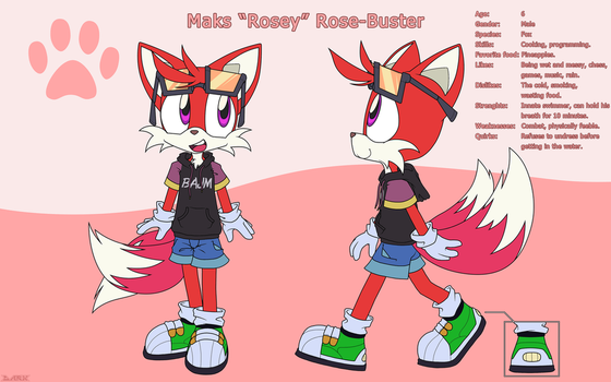Rosey the Fox by DarkenedFantasies