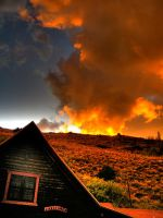Fire on the Hill by Drocan