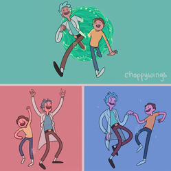 Commission - Rick and Morty AT style by Choppywings