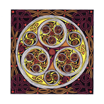 Triskele from the Book of Kells (folio 34r) by SynCallio