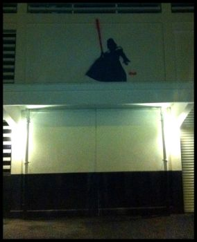 Darth Vader street art by TheArtofBlouh
