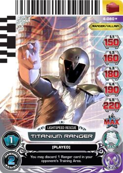 Custom Titanium Ranger Power Rangers ACG Card by e-Berry