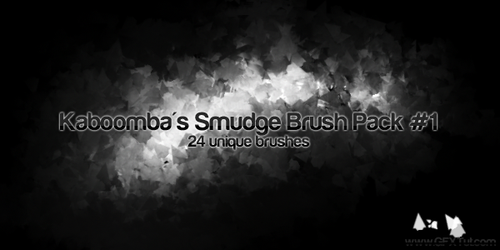 24 Smudge Brushes by Rockanium