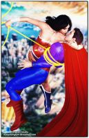 Wonder Woman/Superman All Tied Up by tiangtam