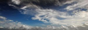 Cloudy blue sky by CathleenTarawhiti