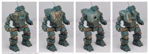 Gunhump options MWO Hunchback 1:60 resin by smtkelly