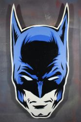 Batman on cut wood by epyon5
