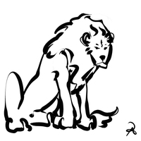 Inktober 2018 #5 - Asiatic Lion by callanerial