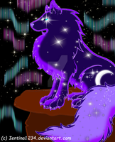 Cosmic Wolf Howler by Ientina1234