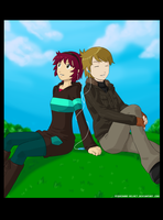 COMMISSION .:Eva and Tom:. by PEQUEDARK-VELVET