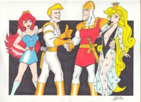 DRAGON'S LAIR MEETS SPACE ACE by lenellb