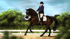 .: | Summer breez dressage | :. Commission by Pashiino