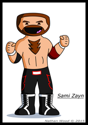 Sami Zayn by UncleWoodstock