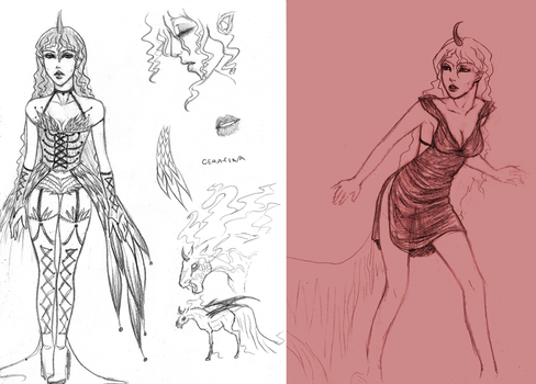 Cerafina - New sketches by Incubo-Infinito