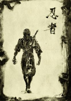 Black Shinobi by scabrouspencil