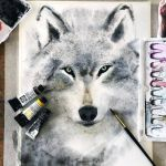 wolf WIP by jane-beata