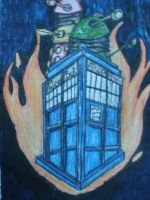 The Tardis on Fire by Andailite47