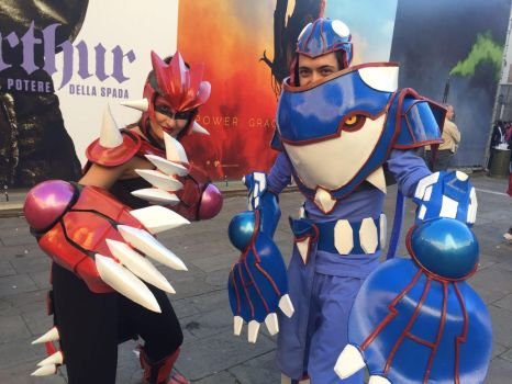 Groudon and Kyogre Cosplay by ketmisch