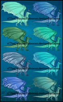 SeaWing Adopt 3-3-17 [ALL SOLD] by xTheDragonRebornx