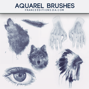 Aquarel // Brushes by FranceEditions