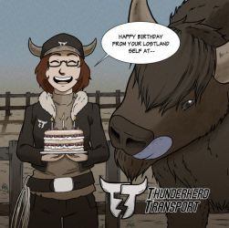 Thunderherd Transport's #1 Bison Handler(HBD!!) by JM-Henry