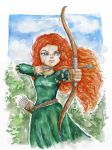 The Brave - Merida - Watercolor by EMSTURIAO