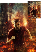Outrunning the Explosion Premade Book Cover by Viergacht