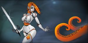 N4omi Fights the Tentacles by lyteside