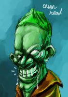 Gantz Green Onion Head by GNAHZ