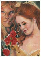 Beauty and the Beast - ACEO by Katerina-Art