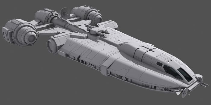 Star Wars Corellian YG-4210 wip by AdamKop