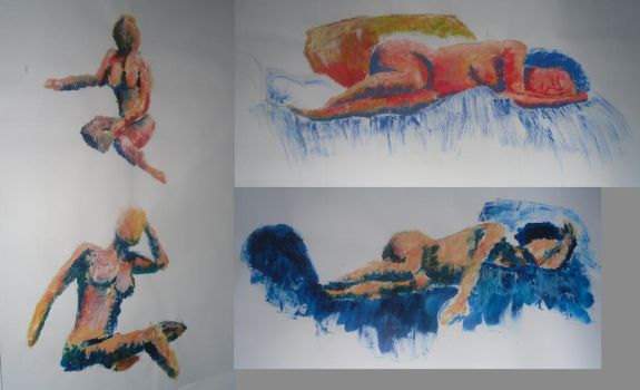 college work - life drawing - paint by FfiFfi73