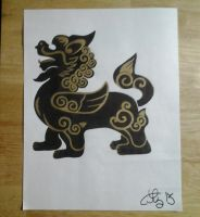 Ancient Lion Drawing by lizzyj2217