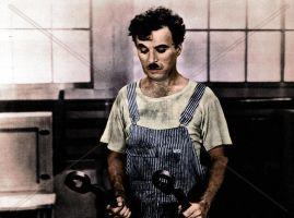 Chaplin The Factory Worker by NatasiaVerdoux