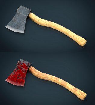 Realistic Axe by sanchiesp