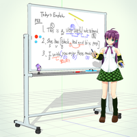 Whiteboard +Accessories MMD Model Download by Hack-Girl