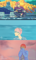 BTS Spring Day Anime MV (Jimin scenes) by IntoTheFrisson