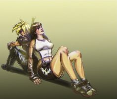 Cloud and Tifa by LucasZebroski