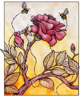 Honeybees by Artisticaviary