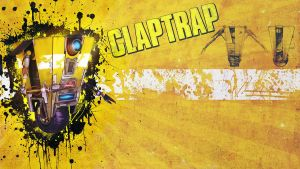 Borderlands - Claptrap Wallpaper by Panico747