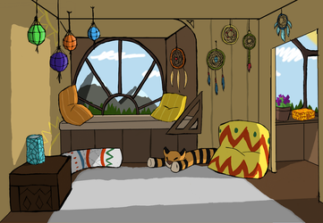 Boho room by Tasianacat
